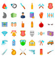 security icons set cartoon style vector image