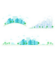 set cityscapes city street with cars a city vector image