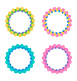 Set of colorful round circle frames vector image vector image