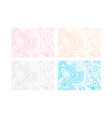 set of of ink marbling texture vector image