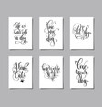 set of six hand lettering posters about dog vector image