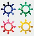 ship wheel icon Abstract Triangle vector image vector image