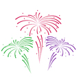 Sketch for abstract colorful firework vector image
