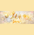snow gold banner vector image vector image