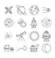 Space Universe Isolated Icon Set vector image vector image