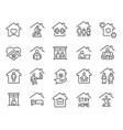 stay home icons set editable stroke vector image vector image