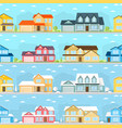 summer and winter town vector image vector image