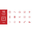 thin icons vector image vector image