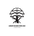 tree of books simple library or book store logo vector image vector image