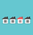 unique house choice concept vector image vector image