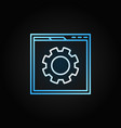 web page with gear linear icon site vector image vector image