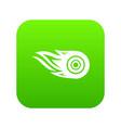 wheel fire icon green vector image vector image