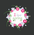 wreath from spring flowers vector image