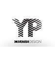 yp y p lines letter design with creative elegant vector image