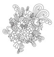 zentangle flower blossom zen tangle coloring vector image