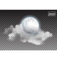 Realistic detailed full big moon with clouds vector image