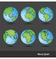 World Globe doodle vector image