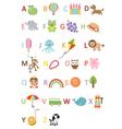 Kids alphabet vector image