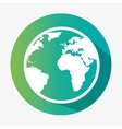 green globe earth environmental eco graphic vector image