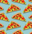 Isometric Pizza seamless pattern Italian food vector image