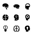 9 think icons vector image vector image