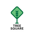 abstract linear tree logo icon design universal vector image vector image