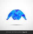 Abstract Rabbit low polygonal vector image vector image