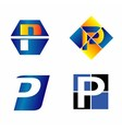 Alphabetical Logo Design Concepts Letter P vector image vector image