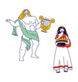 ancient greek gods characters appolon or phoebus vector image