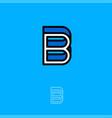 b monogram logo blue vector image