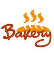 bakery logo vector image