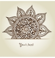 Beautiful vintage ornament Mandala vector image