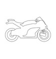 bike flat icon and logo outline vector image vector image