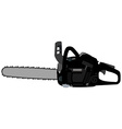 Black realistic chainsaw vector image vector image