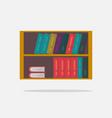 bookshelf isolated flat vector image