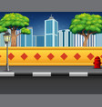 city street view with an urban background vector image vector image