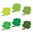 Clover leaves colorfull icon set vector image vector image
