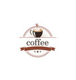 coffee cafe emblem logo vector image
