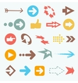 color arrow icons Big vector image vector image