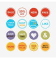 Colorful retail and shopping attention tags icons vector image vector image