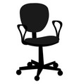 computer chair on white background vector image vector image