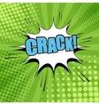 Crack comic bubble text vector image vector image