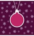cristmas ball vector image vector image