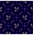 Diagonal seamless pattern minimal floral ornament vector image vector image