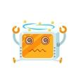 Dizzy Little Robot Character vector image vector image