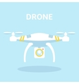 Drone icon Quadrocopter vector image