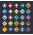 flat icons industrial and construction tools vector image vector image
