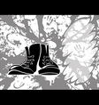 grungy shoes vector image vector image