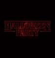 halloween party text design halloween word vector image vector image