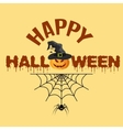Halloween pumpkin with witches hat vector image vector image
